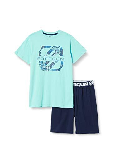 Freegun EG.FGSUM2.PSH.MZ Juego de Pijama, Aqua/Marine, 10 años para Niñas