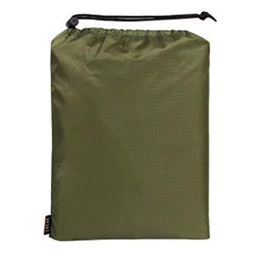 Poncho multifuncional con capucha 3 en 1, con capa de lluvia, alfombra de tienda de campaña, lona para sombrilla, manta de picnic para viajes, senderismo, ciclismo (verde militar)