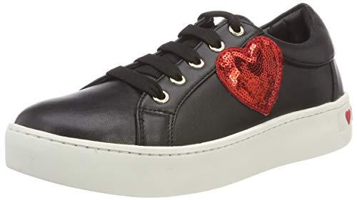 Love Moschino Damen Scarpad.Gomma35 VIT.Nappato Sneaker, Schwarz (Nero 000), 39 EU