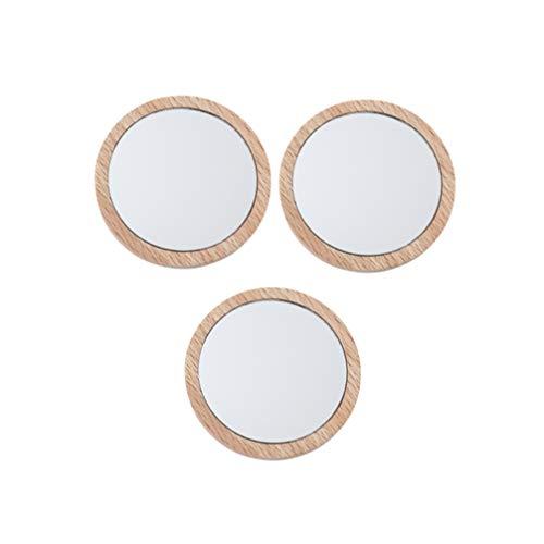Minkissy 2Pcs Mini Miroir Miroir de Maquillage Miroir Cosmétique Miroir de Poche pour Femmes Filles Maison