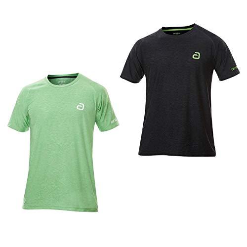ANDRO T-Shirt Melange Pro Optionen M, schwarz