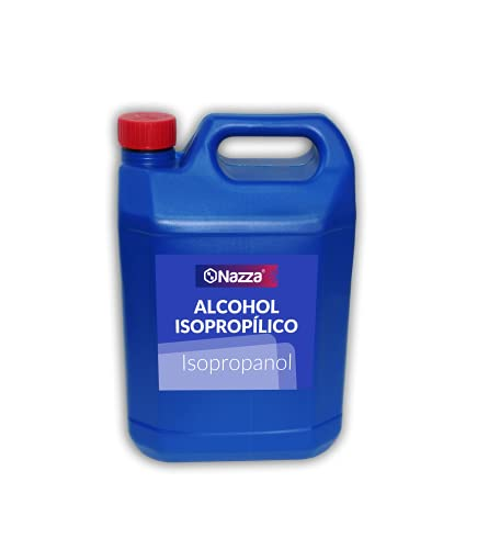 Alcohol Isopropílico Nazza IPA | 99,9% Isopropanol Puro | Limpieza de Componentes Electrónicos, Desinfección de Superficies, Pantallas, Objetivos, Móviles, Placas base | 5 Litros