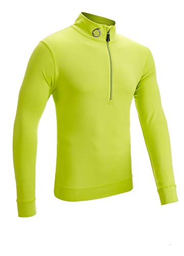 Sunderland, maglia intermedia elasticizzata da golf con cerniera e dettaglio, Uomo, Lime, L