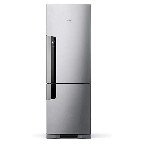 Geladeira Consul Frost Free Duplex 397 litros Evox com freezer embaixo - CRE44AK 220V