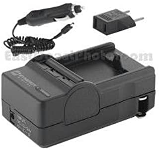 CGR-D16 Panasonic AG-HPX170 Camcorder Battery Charger - Battery Charger for Panasonic CGR-D08 CGR-D28 /& CGR-D54 Batteries 110//220v with Car /& EU adapters