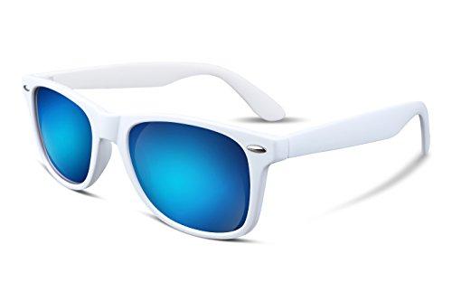 B1858 Feisedy Gafas de sol polarizadas, grandes, clásicas, para Hombresy Mujeres, con lentes HD espejadas