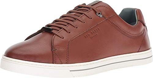 Ted Baker Men's Thawne Sneaker, tan Leather, 8.5 Medium US