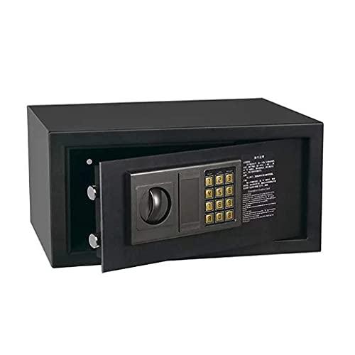 XiYou Caja Fuerte de Seguridad, Caja Fuerte para el hogar Teclado numérico electrónico con Alarma incorporada Caja Fuerte Negra 40 * 30 * 20 cm