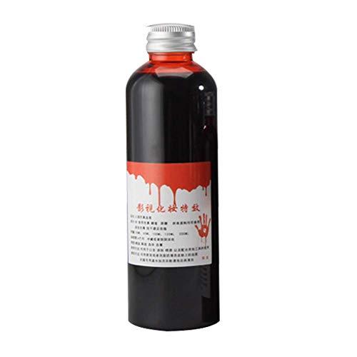 UOWEG Künstliches Blut, Profi-Schminkfarben, Filmblut/Blutgel, dunkel Kunstblut Rot Filmblut Vampirblut Blood Gel Tube Horror Kostüm Halloween Party