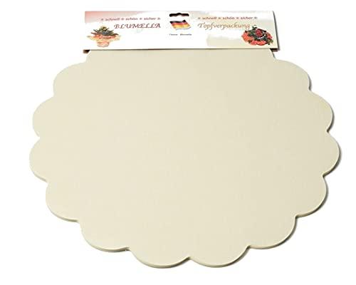 Decpero Blumella Topfmanschetten / 25 Stück / 54 cm/Creme