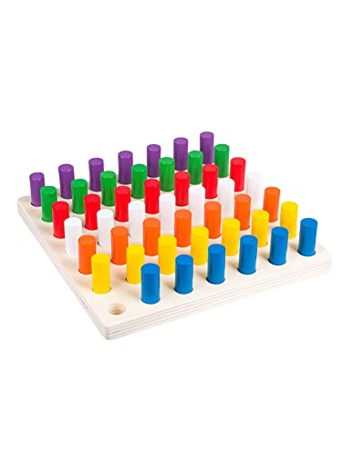 Wumudidi Blocchi cilindri a manopola Montessori, Strumenti educativi sensoriali prescolari in età prescolare in anticipo Giocattoli Montessori per Bambini per Bambini
