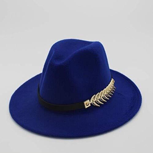posterguo Mütze Filzhut Herren Fedora Hüte mit Gürtel Damen Vintage Caps Fedora Warm Jazz Hat Damenhut B