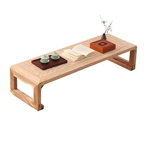 Gartenmöbel Zubehör Kleiner Schreibtisch Kirschholz Rechteck Tisch Balkon Teetisch Tatami Esstisch Kleiner Niedriger Couchtisch Tische (Color : Natural, Size : 100 * 45 * 30cm)