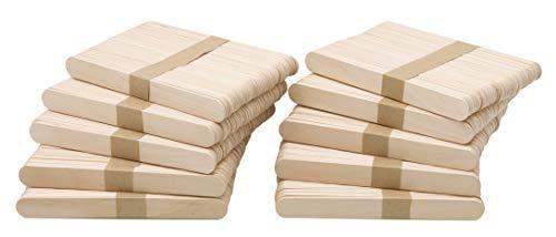 MADERA NATURAL. Los palos son de madera 100% y miden aproximadaente 15x1,8 cm. La madera es natural, de cerezo. Tienen los bordes redondeados y están libres de astillas. Su gran tamaño los hace muy fáciles de manejar. USO PROFESIONAL. Las paletas pue...