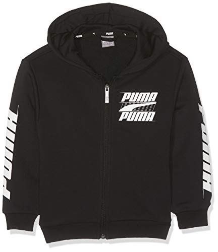 PUMA Jungen Rebel Bold Hooded Jacket TR B Sweatjacke, Cotton Black, 152