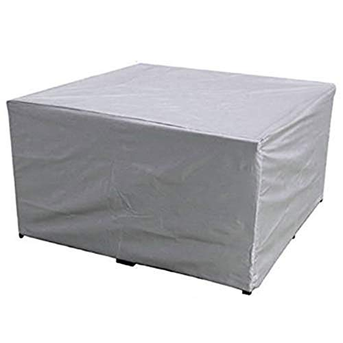 Ydq Housse Salon De Jardin Housse De Table Imperméable Coupe-Vent Anti-UV Robuste Tissu Oxford Housse De Meuble pour Patio De Jardin Extérieur,135 x 135x 75cm