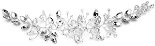Oia Accesorios para el Pelo de la Novia para Las Mujeres con Caja de Regalo | Bridesmaid Novia Vintage Diadema Corona Diadema Flor Vine Boda graduación