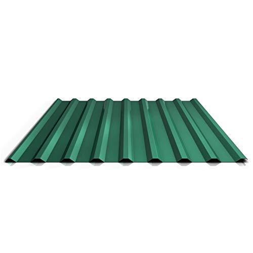 Trapezblech   Profilblech   Dachblech   Profil PS20/1100TR   Material Stahl   Stärke 0,50 mm   Beschichtung 25 µm   Farbe Chromoxidgrün