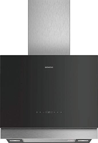 Siemens LC67FQP60 hotte 710 m³/h Monté au mur Noir, Acier inoxydable A - Hottes (710 m³/h, Conduit/Recirculation, B, A, C, 55 dB)