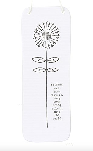 East of India : Tall Porcelaine Signer : Amis sont comme Fleurs