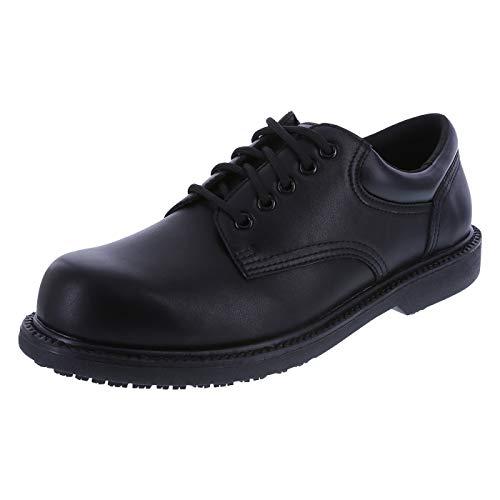 safeTstep Blk Blk Men's Slip Resistant Manager Oxfords 13 Regular