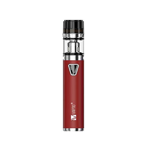 Vaptio Solo F1 Kit de cigarrillo electrónico 2.0ML Tanque 0.25ohm bobina Sin E Líquido Sin Nicotina (Rojo, kit)