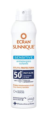 Ecran Sunnique - Sensitive Antialergias Solares, Bruma Solar Para Pieles muy Claras Sensibles e Intolerantes al Sol, con SPF50+ - Formato 250 ml
