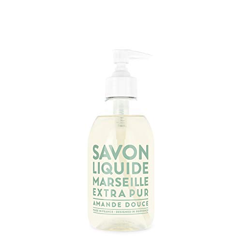 Compagnie de Provence Savon de Marseille Extra Pure Liquid Soap - Sweet Almond - 10 Fl Oz Plastic Pump Bottle