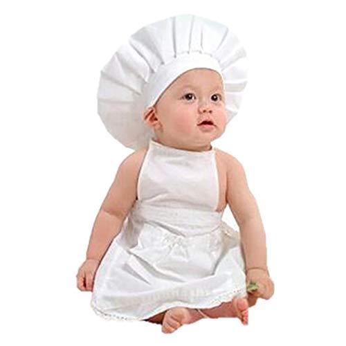 ZOYLINK Baby Chefkostüm Foto Prop Set Kochmütze Schürze Fotoausstattung für Inflant