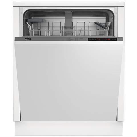 Beko DIN24310 lavavajilla Totalmente integrado 13 cubiertos A+ - Lavavajillas (Totalmente integrado, Tamaño completo (60 cm), Gris, Botones, Tocar, LCD, Estático)