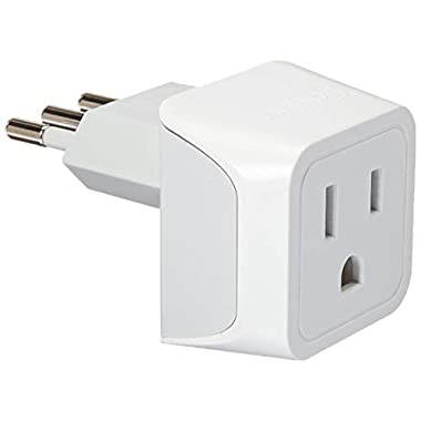 Ceptics USA to Italy Travel Adapter Plug - Type L (3 Pack) - Dual Inputs - Ultra Compact (Does Not Convert Voltage)