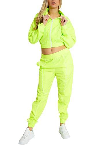 2tlg Damen Casual Langarm Trainingsanzug Sportanzug Jogginganzug Freizeithose 42
