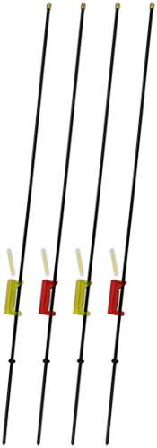 2-4 Stück Affenkletterer Bissanzeiger Set zum Angeln aus robustem Metall inkl. Knicklichter, Farbe :2x Grün 2x Rot