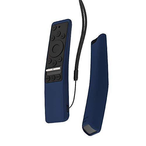 SIKAI CASE Stoßfestes Schutzhülle Kompatibel mit Samsung 8K / 4K Smart TV Remote RMCSPR1BP1 / BN59-01312A / BN59-01312M Kratzfest Hülle aus Silikon MEHRWEG (Marine und Schwarz)