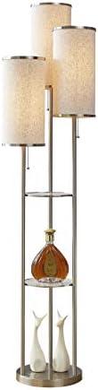 Artiva USA LED21048SNT Eleanor 66 H LED Tri Light Shelf Floor Lamp Satin Nickel product image