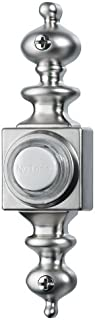 NuTone PB4LSN Wired Lighted Door Chime Push Button, Satin Nickel