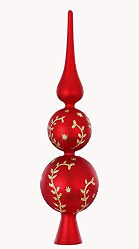 Inge-glas Gals, puntale per albero di Natale decorato, 31 cm, colore: rosso
