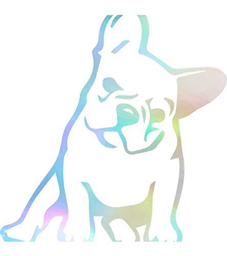Angdest French Bulldog Kute (Hologram) (Set of 2) Premium Waterproof Vinyl Decal Stickers for Laptop Phone Accessory Helmet Car Window Bumper Mug Tuber Cup Door Wall Decoration