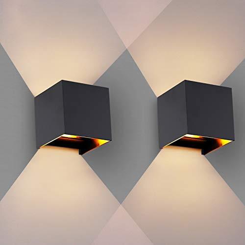 OOWOLF Wandleuchte Innen, Wandleuchte Innen Wandlampe 3.8W IP65 Wasserdicht mit Austauschbarer G9 Glühbirne,3000K Warmweiße LED Wandleuchte Innen für Wohnzimmer, Balkon, etc