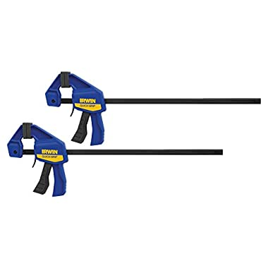 IRWINQUICK-GRIPOne-Handed Mini Bar Clamp 2 Pack, 12 , 1964745