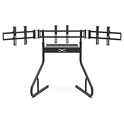 """Extreme Sim Racing Triple Screen Tv Stand Add-on Upgrade With Back Tray - Fits almost all Sim Racing Rigs in the Market - Suitable for TV sizes up to 3 x 37"""""""