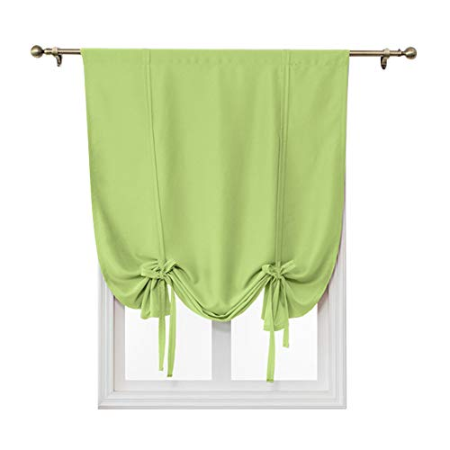 Cortas Cortinas para ventana, 1 panel de barra, de color sólido, cortinas romanas para interiores, cortinas romanas para balcón, dormitorio, sala de estar, cocina