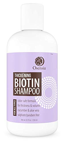 Thickening Biotin Shampoo for Hair Growth - Sulfate and Paraben Free Shampoo - Aloe Vera, Color Safe, Anti Hair Loss Shampoo For Men and Women Prevents Breakage, Boosts Thicker Hair by Osensia