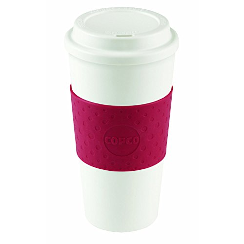 Copco Acadia Brown and White Insulated Travel Cup | Ceramic