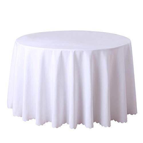 Doitsa - Mantel Redondo de poliéster para casa, Restaurante, Boda, Ceremonia o Hotel, 240 cm, 300 cm