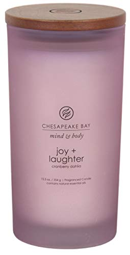Chesapeake Bay Candle PT31915 Scented Candle, Joy + Laughter (Cranberry Dahlia), Large