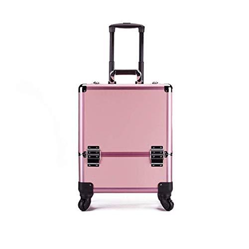 GUONING-L Rueda Caja de herramientas de maquillaje - caja de la carretilla Con Maquillaje Suiter Caster gran capacidad de múltiples capas de la caja de almacenaje de la compra práctica (Tamaño: 39 * 2