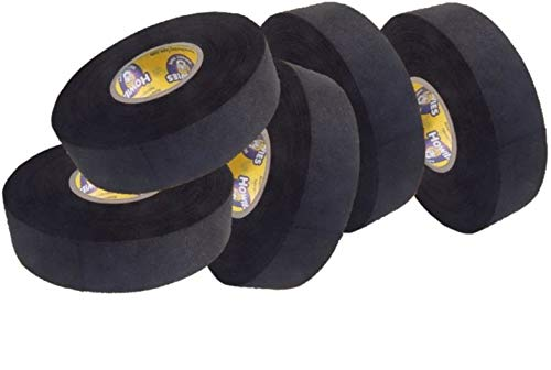 Howies 5X Schlägertape Profi Cloth Hockey Tape schwarz 25mm f. Eishockey, je 23 m