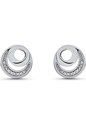 JETTE Silver Damen-Ohrstecker DOT 925er Silber 18 Zirkonia One Size 87745406