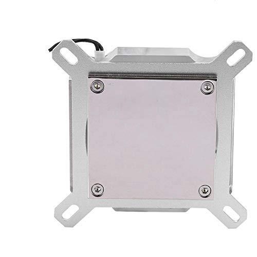 Vbestlife1 Enfriador líquido para CPU con Bloque de refrigeración por Agua, Bloque de Agua con Pantalla de Temperatura, para computadora CPU-Plata